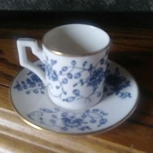 vintage teacup/demitasse cup and saucer, small tea
